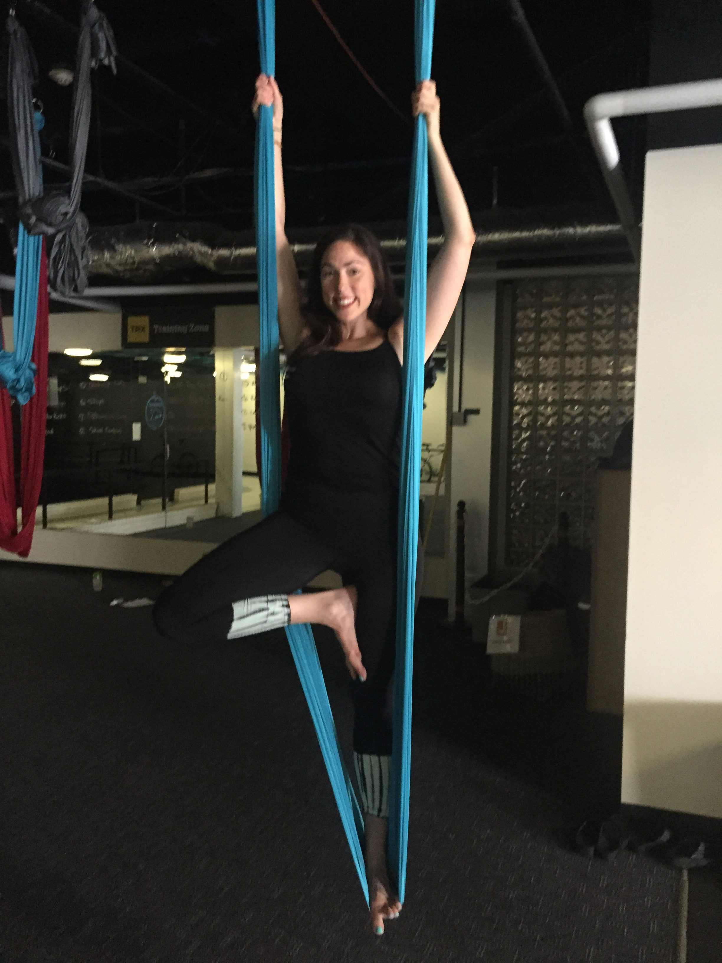 Teaching An Aerial Yoga Series at The J